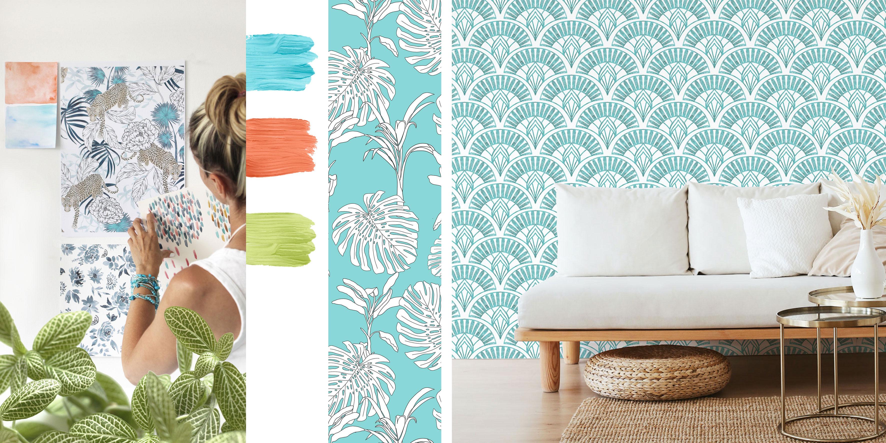 tapety tropikalne, autorskie wzory tapet,patternosophy