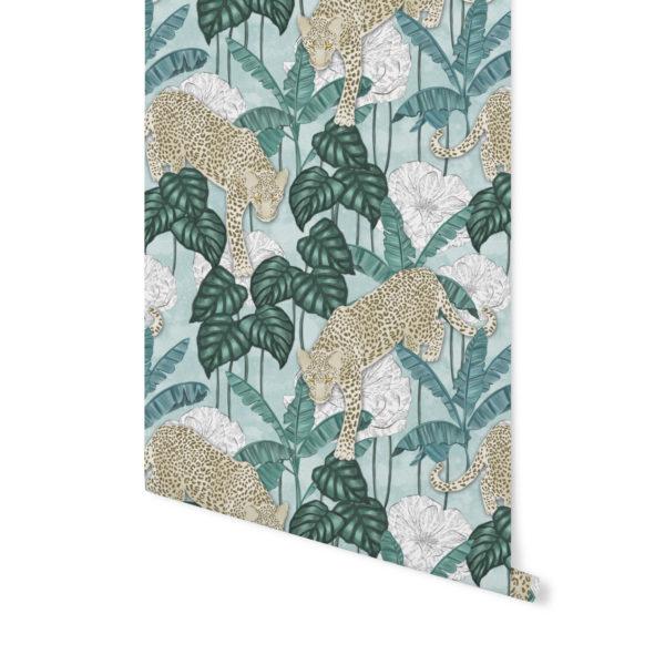 tapeta we wzór zwierzęcy,tapety Patternosophy,tapety tropikalne,wzór tropikalny,tapeta turkusowa