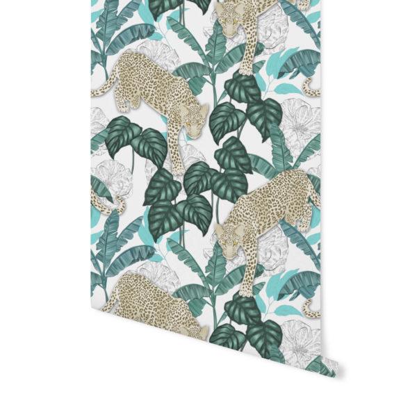 tapety Patternosophy,tapety tropikalne,wzór tropikalny,wzór turkusowy tapety,tapeta turkusowa