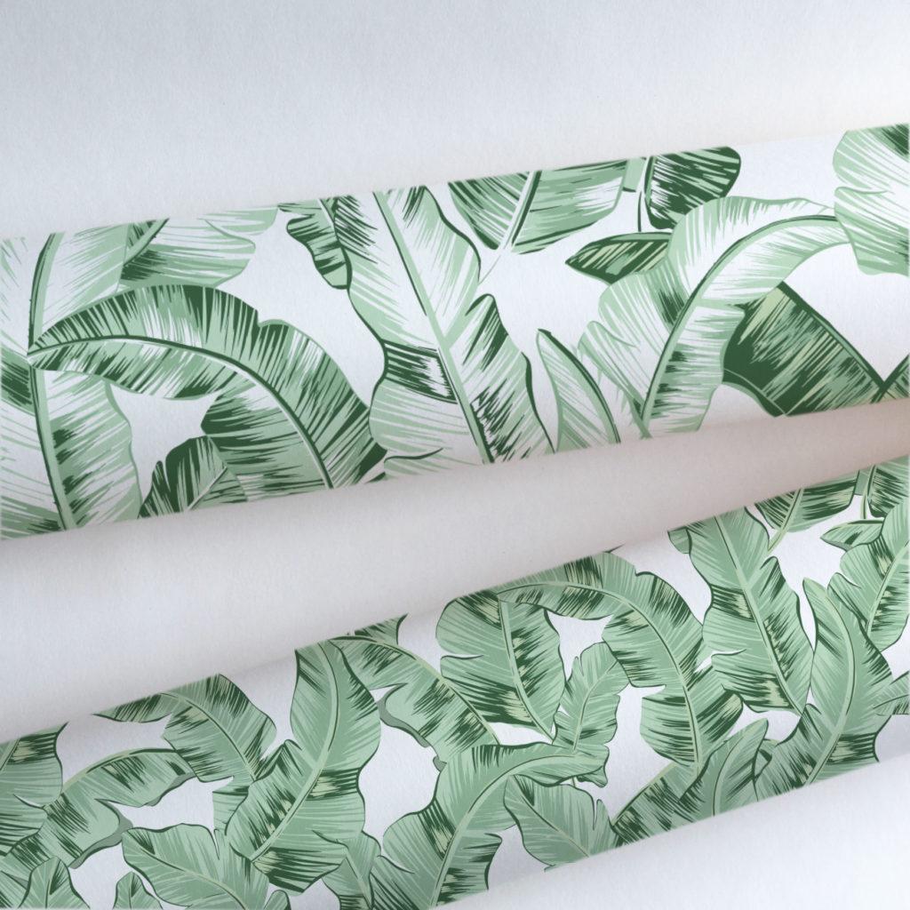 jak dobrać tapetę liść bananowca