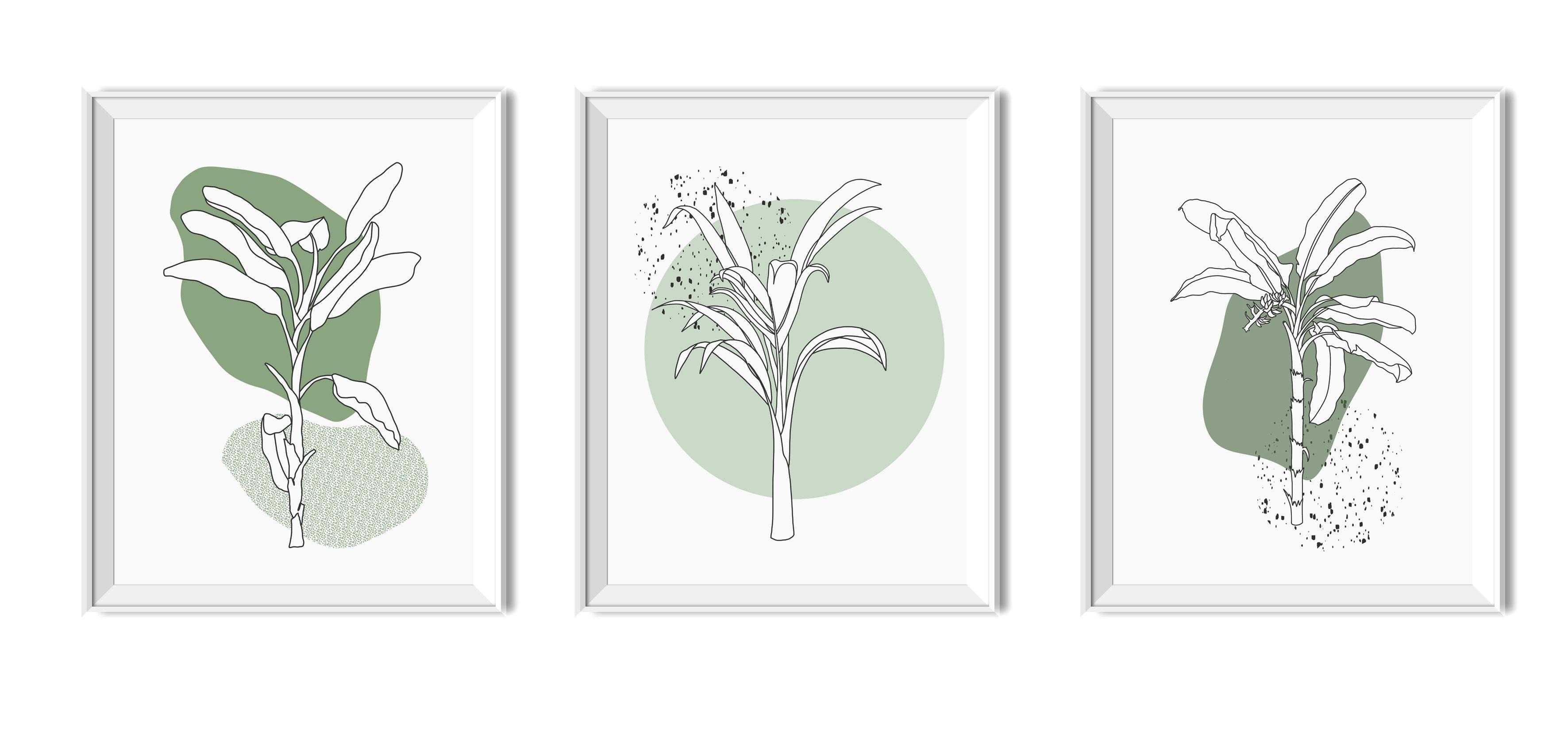plakaty do druku tryptyk palma