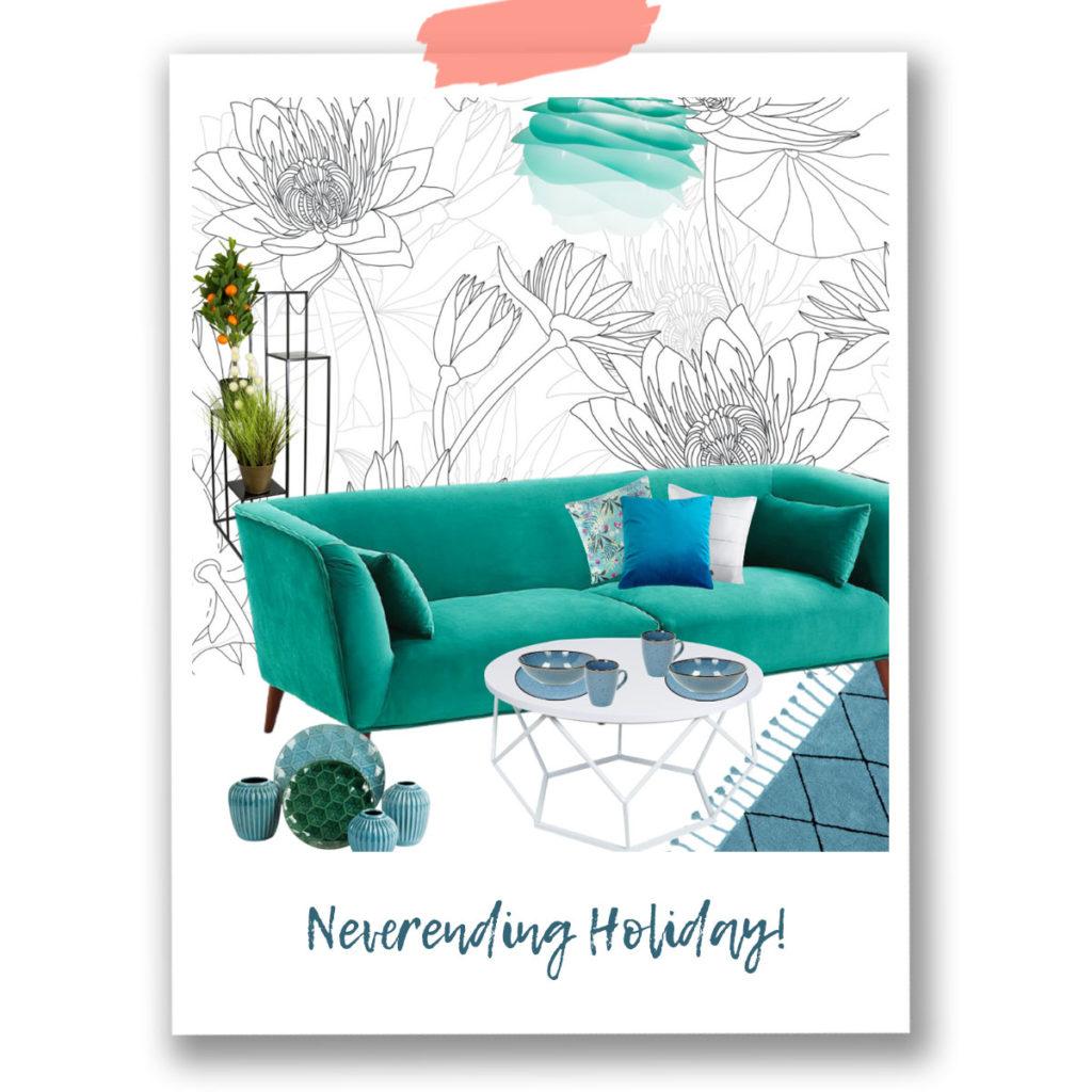 darmowy pdf, aranżacja wnętrz, tropikalne wnętrza, tapeta winylowa, tapeta flizelinowa,tapeta peel&stick