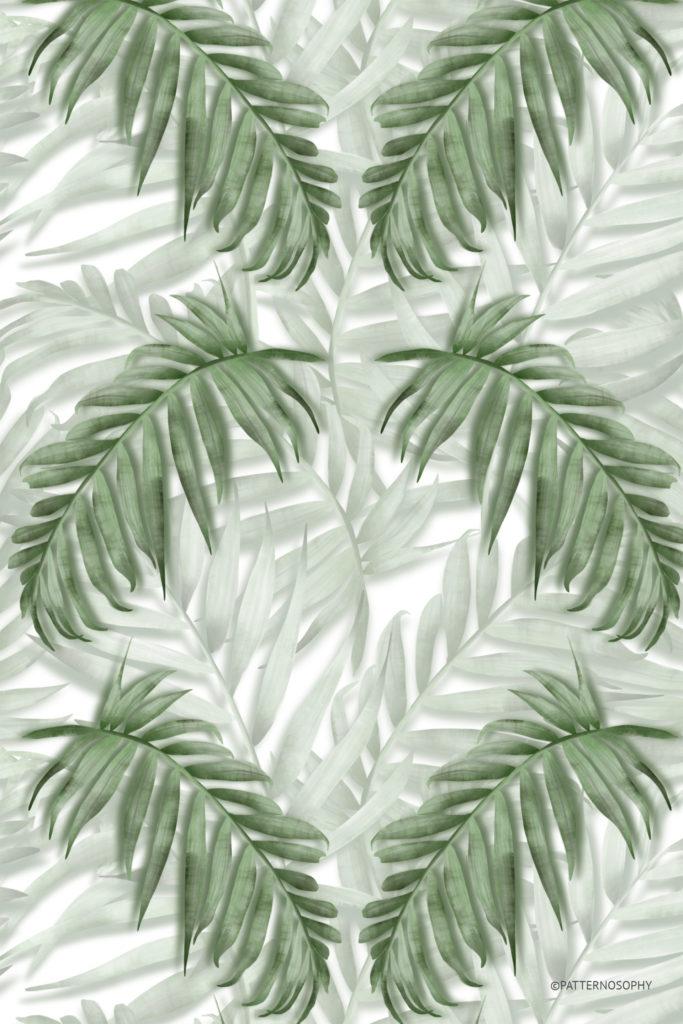 tapeta w liście, tapeta wpalmy, tapeta boho, tapeta geometryczna