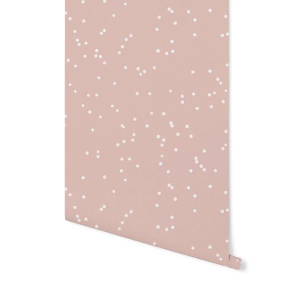 tapeta w kropki,tapeta geometryczna,tapeta w palmy, różowa tapeta, różowa palma, tapeta w kropki,terrakota