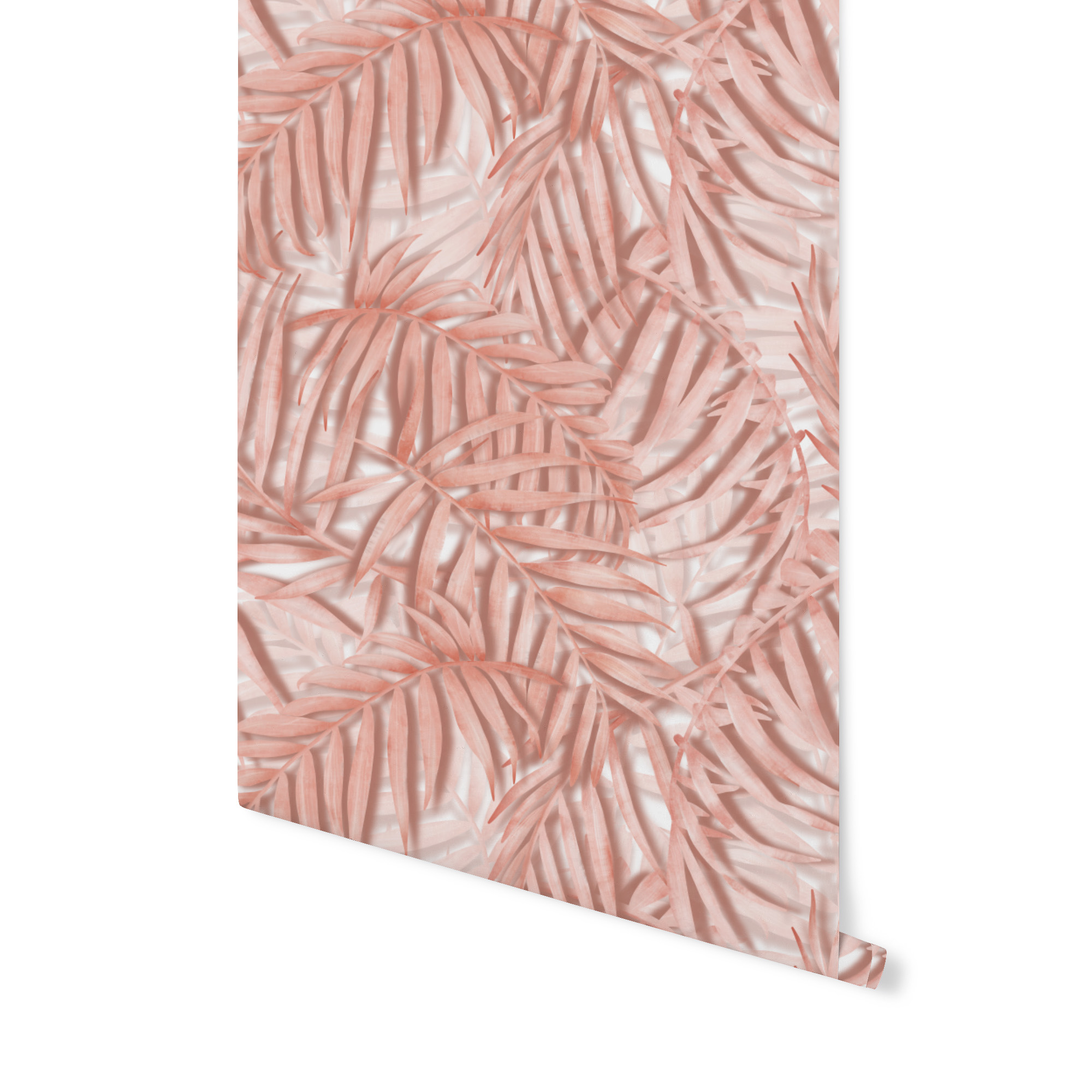 tapeta w palmy, różowa tapeta, różowa palma