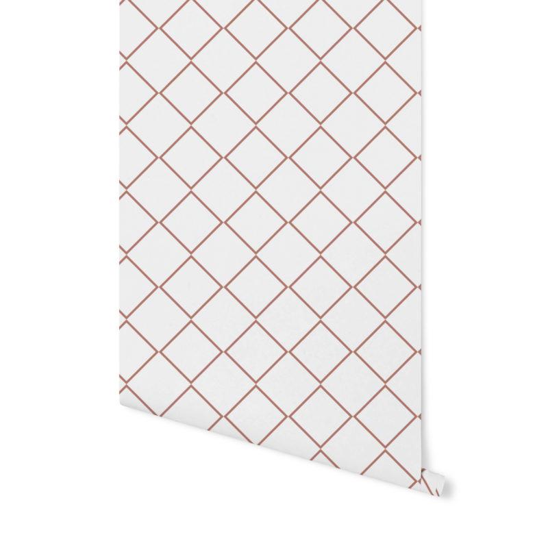 tapeta geometryczna,tapeta w palmy, różowa tapeta, różowa palma, tapeta w kropki,terrakota