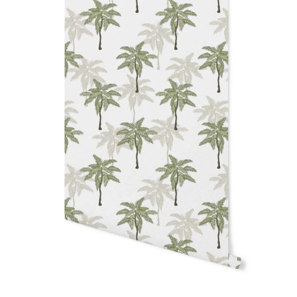 tapeta w palmy, liście tropikalne