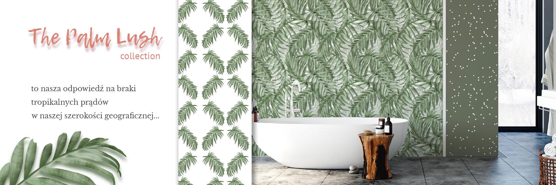 tapeta tropikalna, tapeta boho, tapeta w liście palmy