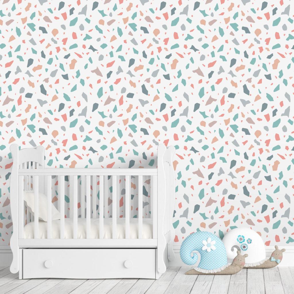 lollipop,terrazzo, tapeta terrazzo, wzór terrazzo,terrazzo pattern,terrazzo wallpaper