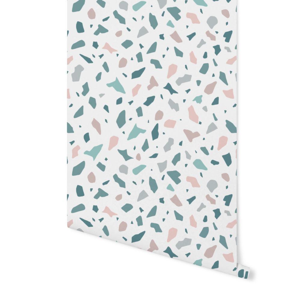 mint candy,terrazzo pattern, wzór terrazzo,tapeta terrazzo,tapeta kolorowa