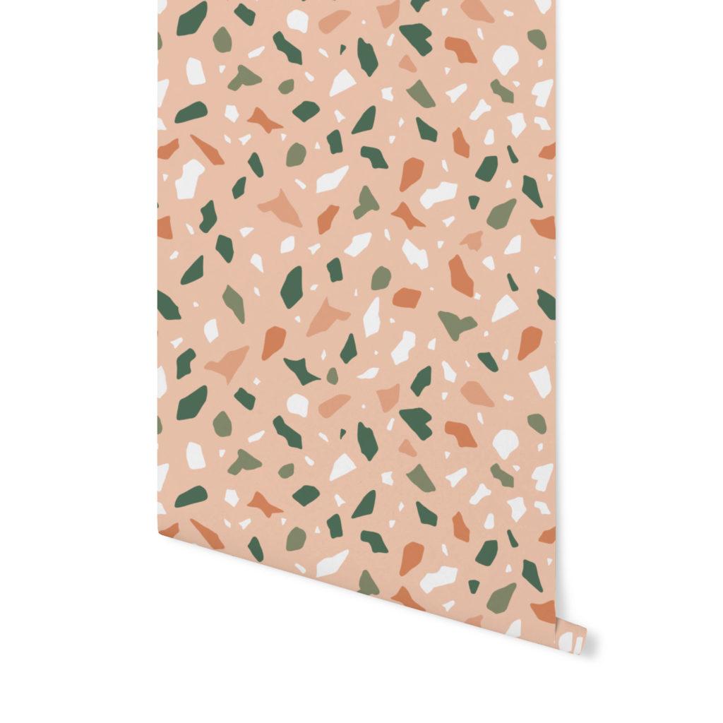 tuscan sun,terrazzo pattern, wzór terrazzo,tapeta terrazzo,tapeta kolorowa