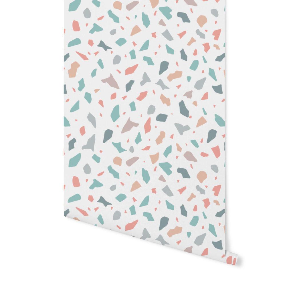 lollipop, terrazzo pattern, wzór terrazzo,tapeta terrazzo,tapeta kolorowa