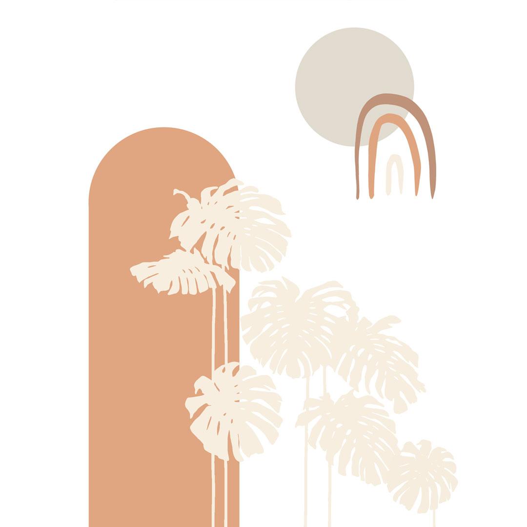 tapeta minimalistyczna, tapeta terrakota, tapeta wakacyjna