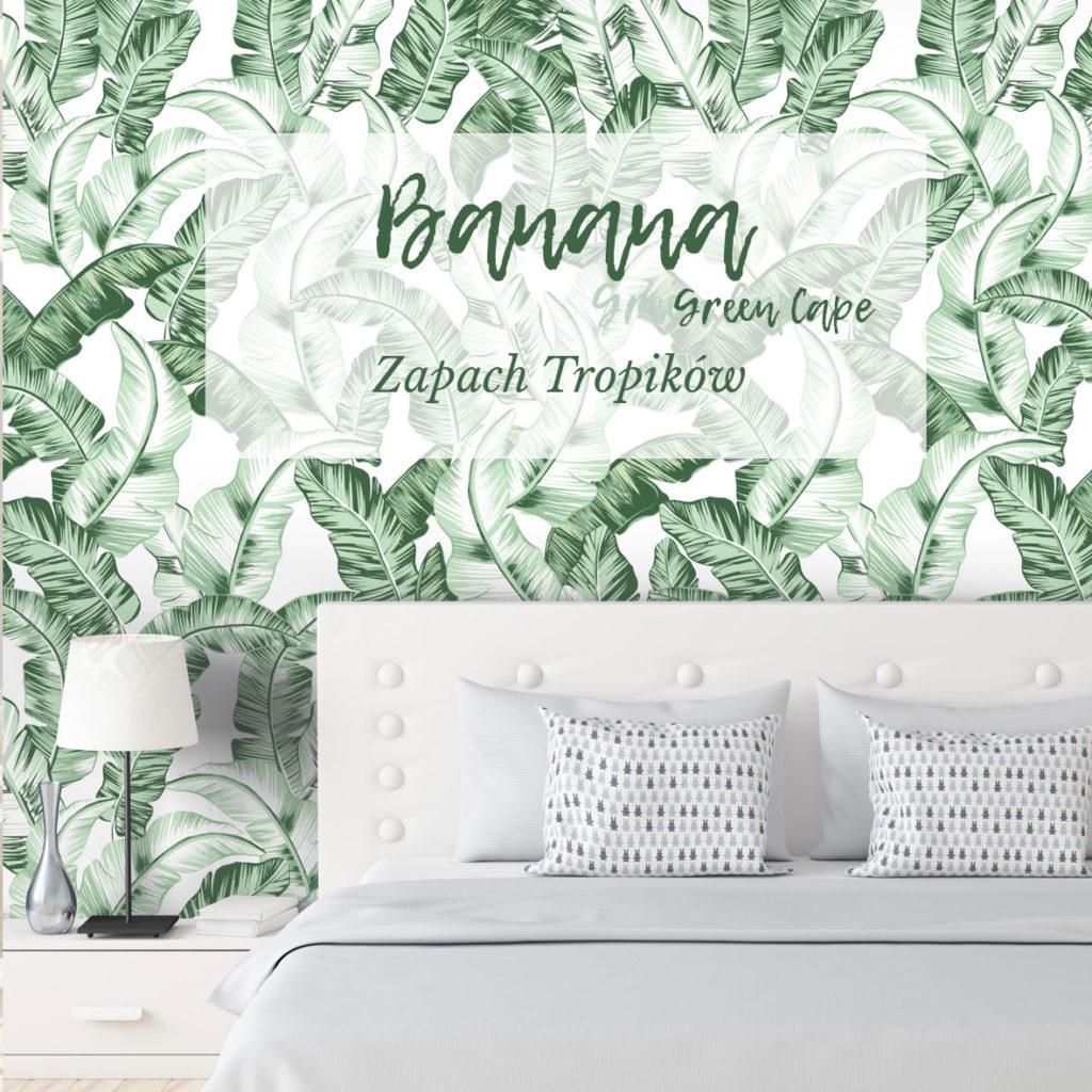 tapeta boho, tapeta tropikalna, tapeta w liście