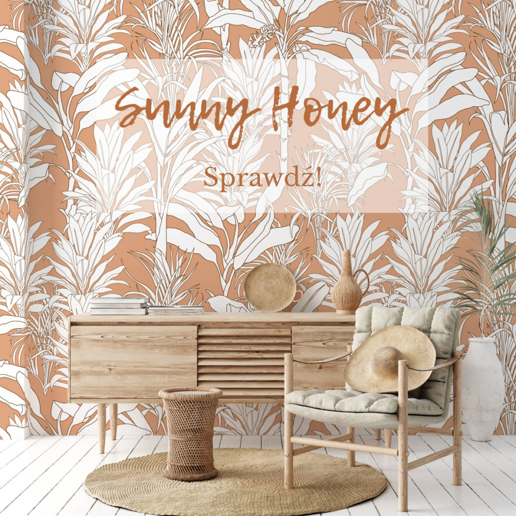 tapeta tropikalna, tapeta w liście palmy,tapeta tęcza