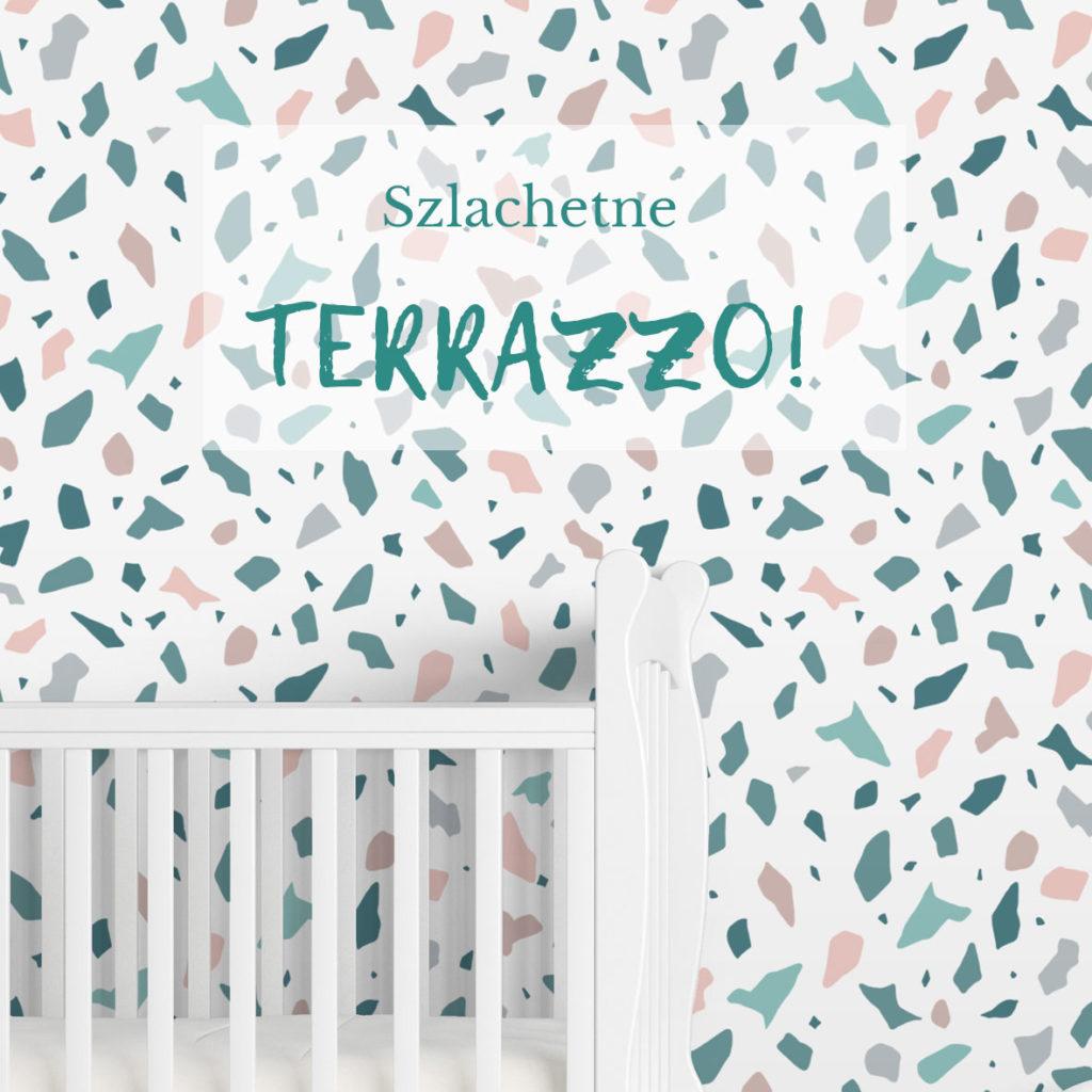 tapeta terrazzo, tapetatropikalna, tapeta geometryczna,tapeta dziecięca