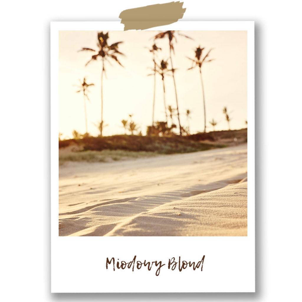 miodowy blond, tapeta tropikalna